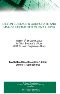 Corporate and M&A Department Client Lunch